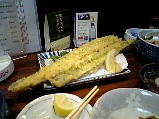 番番亭 タチウオの天ぷら