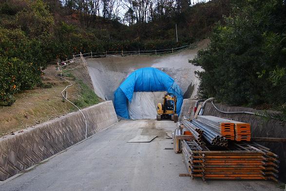 一般県道高根島線(内の浦トンネル) 工事中