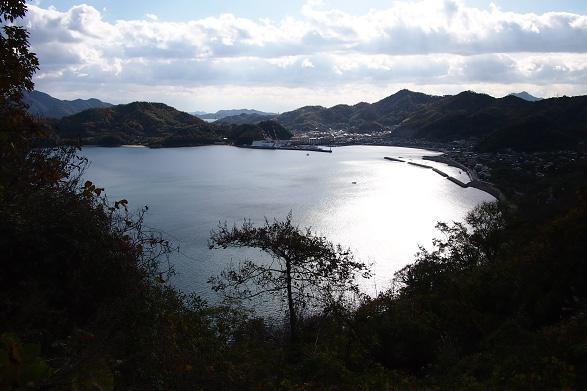 因島水軍スカイラインから見る因島三庄町の街並み